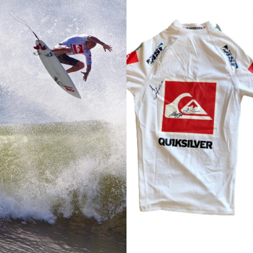 Kelly Slater worn and signed jersey