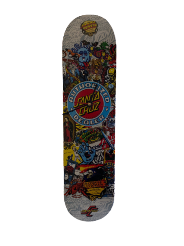 Santa Cruz Skateboard Official Dealer Wall Clock
