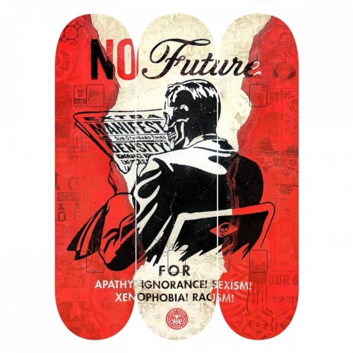 NO Future  limited edition 200 by Shepard Fairey - 2017 - skateboards OBEY