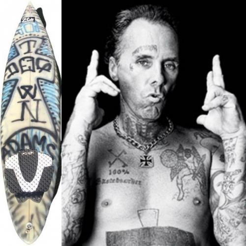 JAY ADAMS personal surfboard