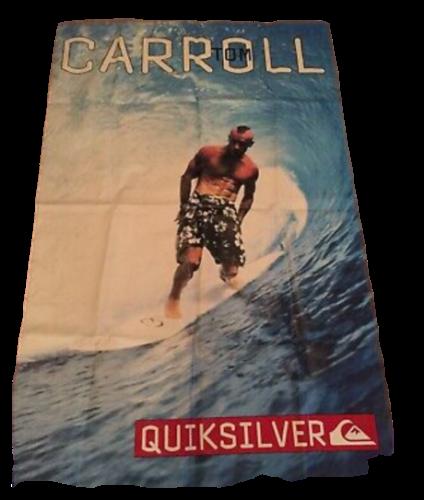Vintage large Quiksilver vinyl banner Tom Carroll